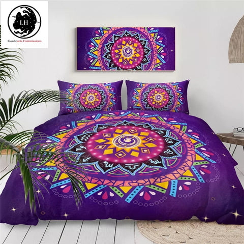 Zodiac Mandala by Lionhearts Bedding Set