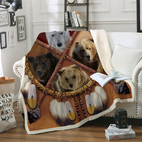 Bears Dreamcatcher Throw Rug