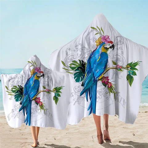 Macaw Hooded Towel