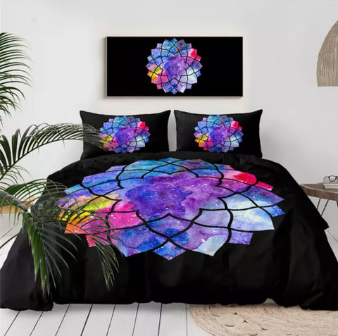 Rainbow Mandala Bedding Set