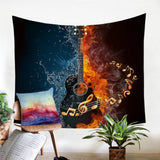 Water & Fire Guitar Wall Tapestry