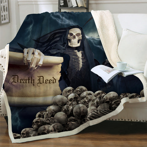 Death Deed Throw Rug
