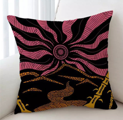 Japanese Mandala By Lionhearts Cushion Cover