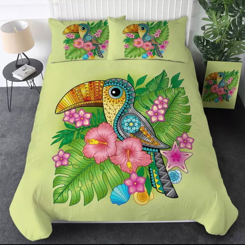 Toucan Mandala Bedding Set