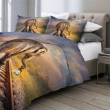 Elephant Walking Down The Tracks Bedding Set