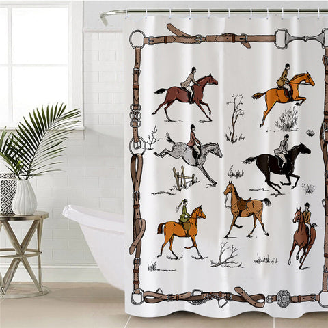 Horse Equestrian Shower Curtain