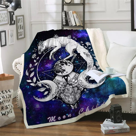 Moon Child By Pixie Cold Art Throw Rug