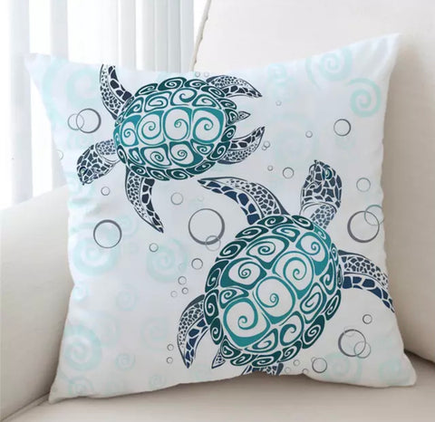 Turtle Mandala Cushion Cover