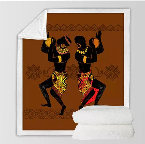 Two Africans Dancing Throw Rug