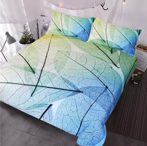 Transparent Leaves Bedding Set