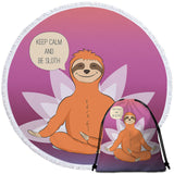 Keep Calm & Be Sloth Round Towel