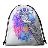 Watercolour Giraffe Mandala Round Towel