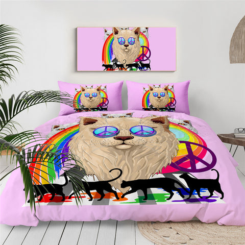 Peace Cat Bedding Set