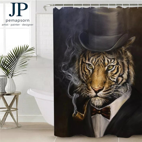 Tiger By JP.Pemapsorn Shower Curtain
