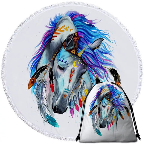 Pferd By Pixie Cold Art Round Towel