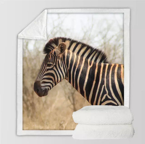 Photo Of Zebra Throw Rug