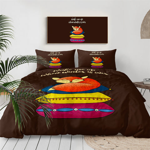 Wake Me Up When Winter Is Over Bedding Set