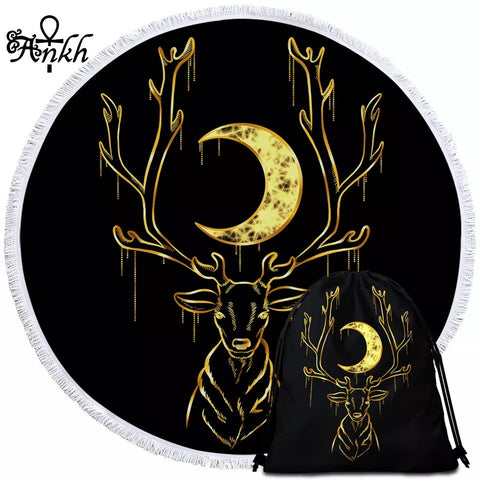 Deer By Taemin Ankh Round Towel