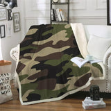 Army Camouflage Throw Rug