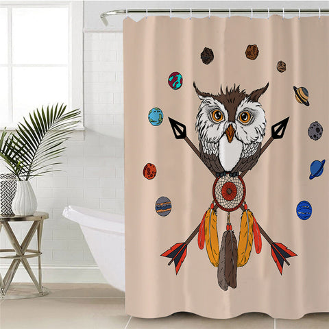 American Indian Owl Dreamcatcher Shower Curtain