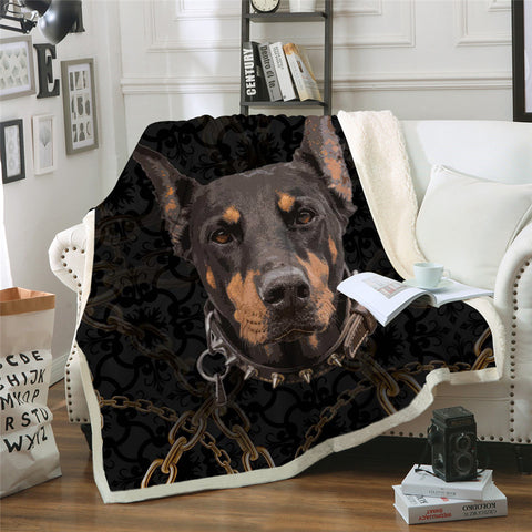 Doberman Throw Rug