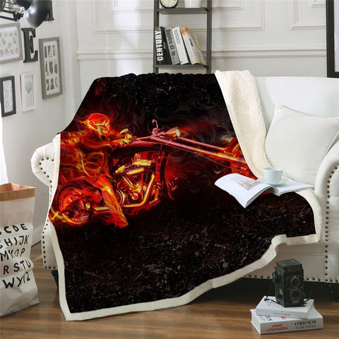 Ghost Rider Throw Rug