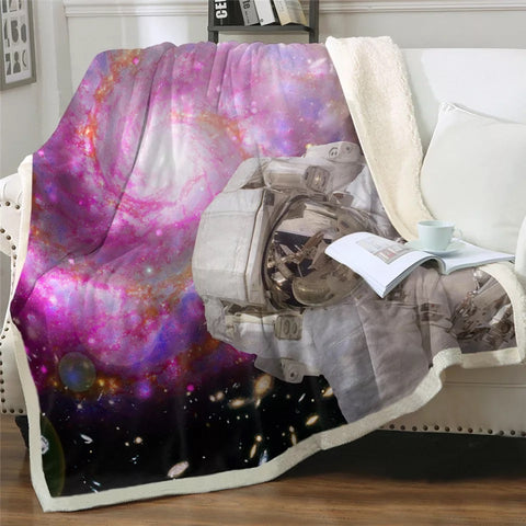 Pink Galaxy Throw Rug