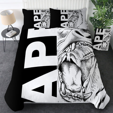 Ape Half Face Bedding Set