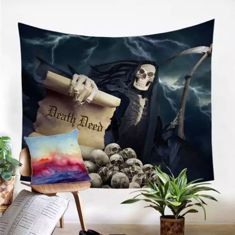 Death Deed Wall Tapestry