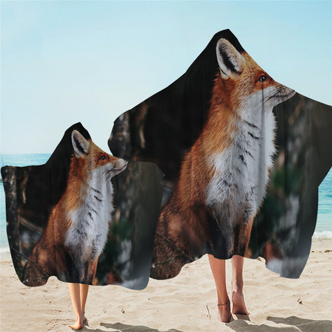 Careful Fox Hooded Towel