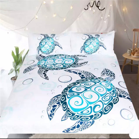 Turtle Mandala Bedding Set