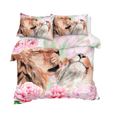 Lion Grooming Lioness Bedding Set