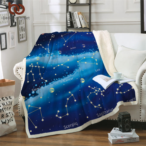 Star Signs In The Stars Throw Rug