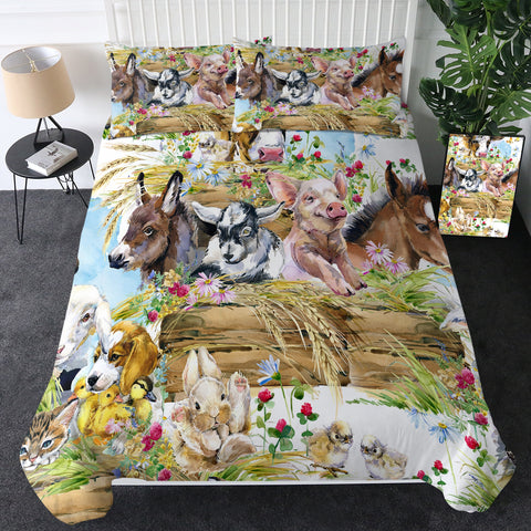 Farm Animals Bedding Set