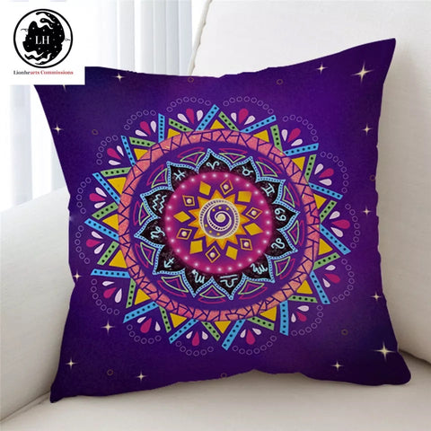 Zodiac Mandala By Lionhearts Cushion Cover