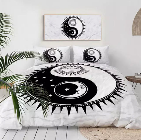 Sun & Moon Yin & Yang Bedding Set
