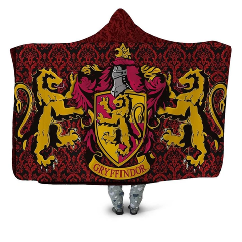 Gryffindor Paisley Hooded Blanket