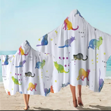 Ombré Rainbow Cats Hooded Towel