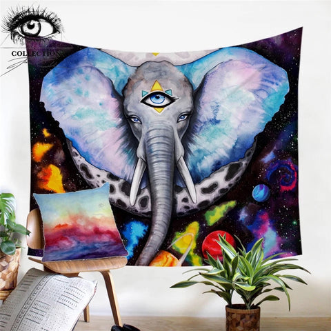 Alien Elefant By Pixie Cold Art Wall Tapestry
