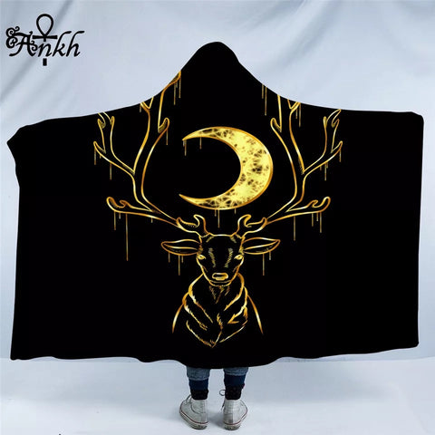 Deer By Taemin Ankh Hooded Blanket