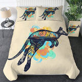 Australian Dreamtime Kangaroo Bedding Set
