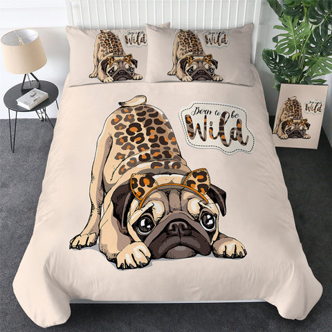 Born To Be Wild Pug Bedding Set