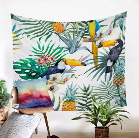 Toucan In The Tropics Wall Tapestry