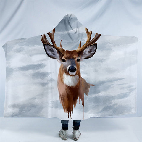 Elk Head Hooded Blanket