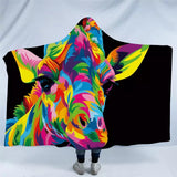 The Royal Giraffe By Weer Hooded Blanket