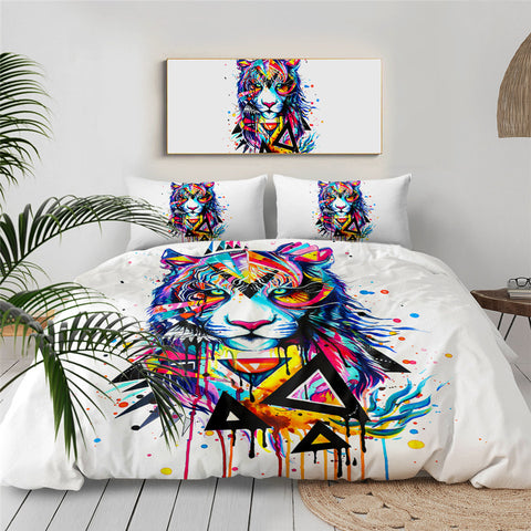 Shattered Tiger By Pixie Cold Art Bedding Set