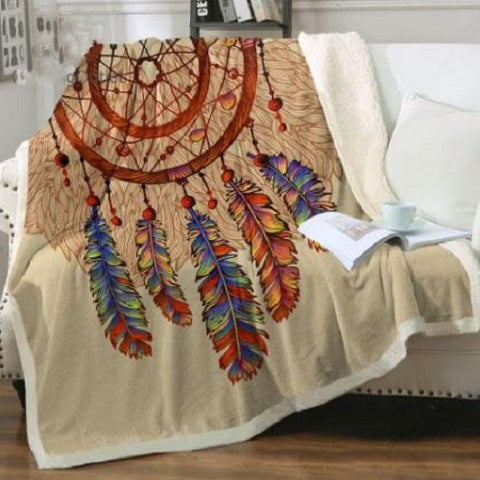 Sun Inspired Dreamcatcher Throw Rug