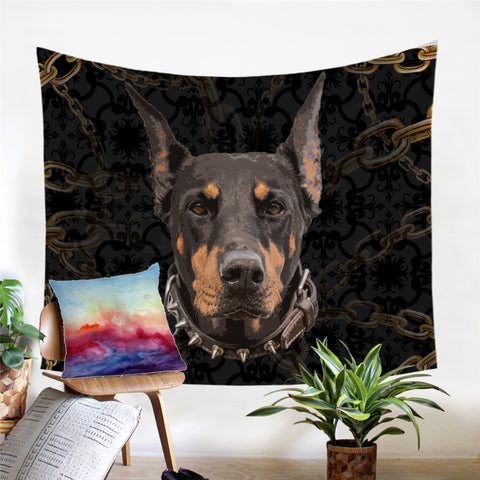 Doberman Wall Tapestry