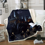 Hogwarts Castle At Night Throw Rug