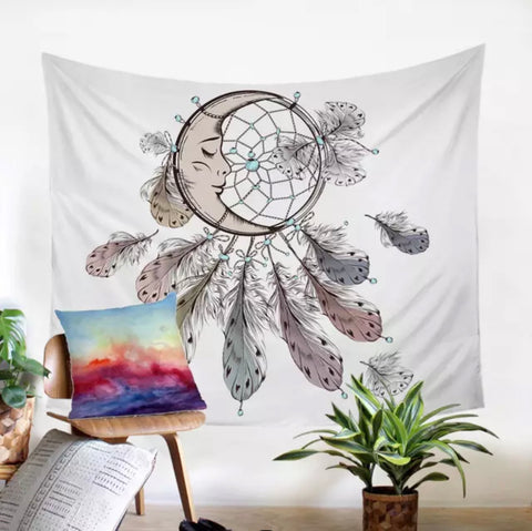 Moon Dreamcatcher Wall Tapestry